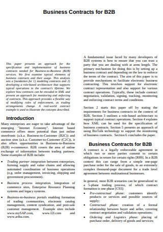 Business Contracts for Business to Business