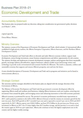 Business Economic Devolopmment Plan