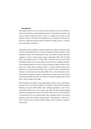 Business Intelligence Direct Marketing Process Sample