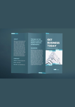 Business Networking Brochure Trifold