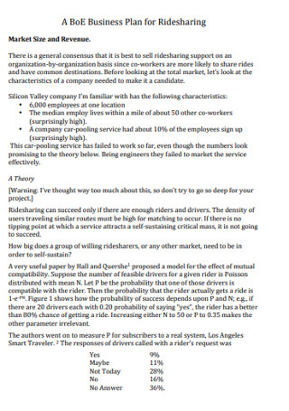 Business Plan for Ridesharing
