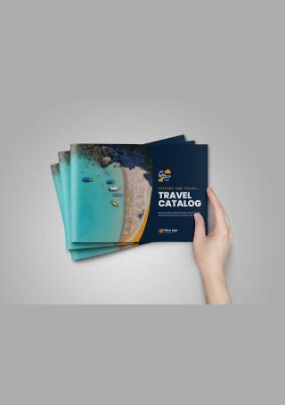 Classic Travel Brochure in Vector EPS