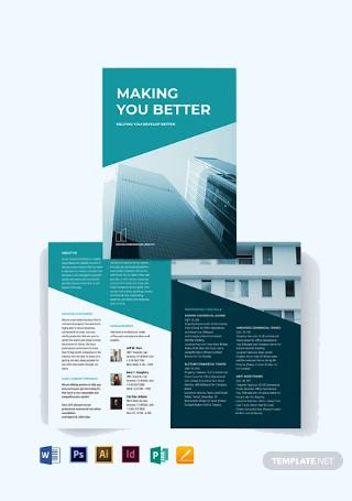 Commercial Lease Real Estate Bi Fold Brochure Template
