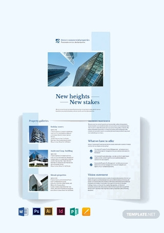 Commercial Real Estate Bi Fold Brochure Template