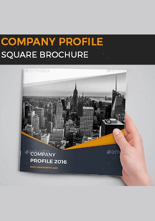 Company Profile Square Brochure in Vector EPS