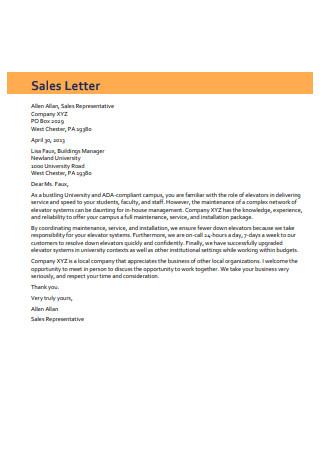 Composition Sales Letter