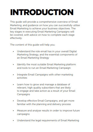 Comprehensive Email Marketing Sample