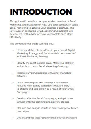 Comprehensive Email Marketing Sample