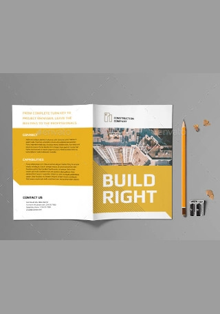Construction Company Bifold Brochure