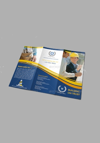 Construction Company Brochure Tri Fold