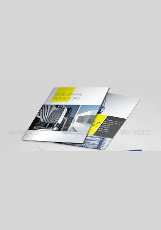 Construction Company Brochure in Vector EPS