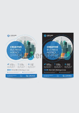 Corporate Business Flyer in Vector EPS