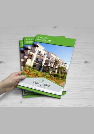 Creative Real Estate Brochure InDesign