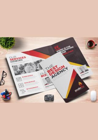 Creative Tri Fold Brochure InDesign
