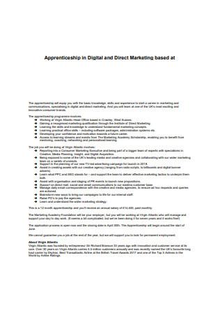 Digital Direct Marketing Sample