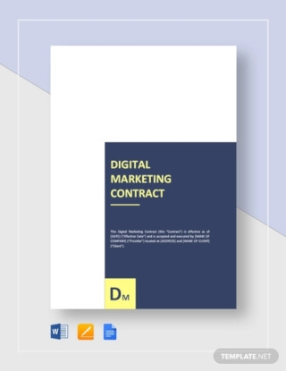 Digital Marketing Contract Sample