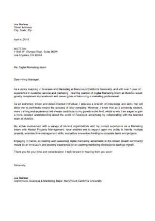 Digital Marketing Letter