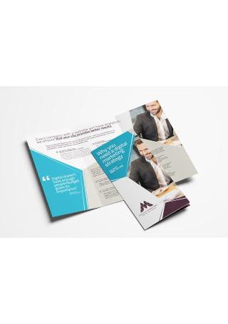Digital Marketing Tri Fold Brochure InDesign