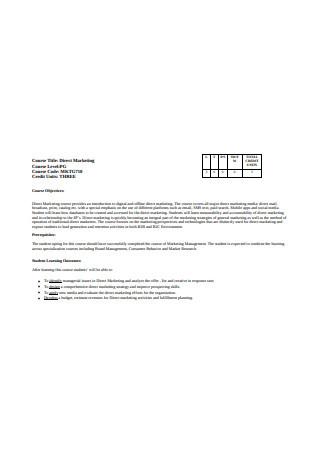 Direct Marketing Sample1