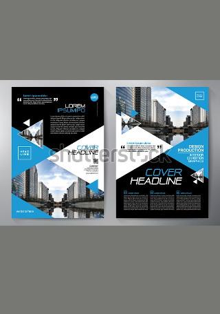 Elegant Business Flyer in Vector EPS