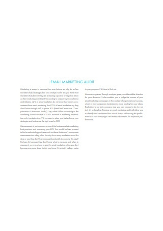 Email Marketing Audit Sample