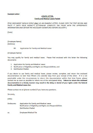 Employee Medical Leave Cover Letter