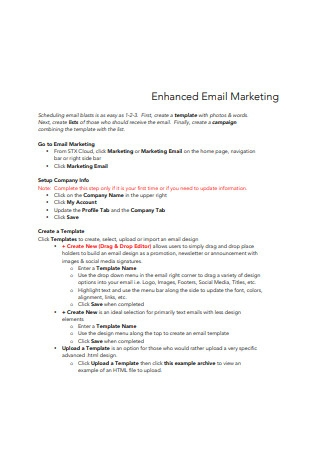 Enhanced Email Marketing Sample