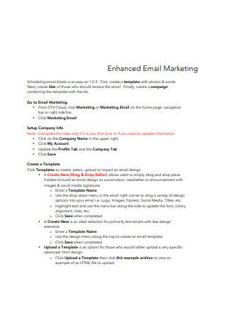 Enhanced Email Marketing Sample