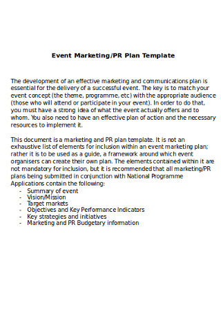 Event Business Marketing Plan