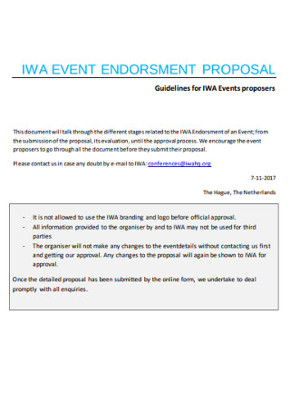 Event Endorsment Proposal