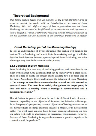 Event Marketing part of the Marketing Strategy