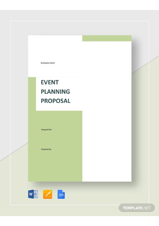 Event Planning Proposal Template
