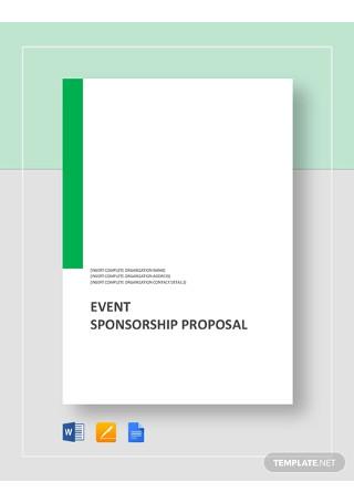 Event Sponsorship Proposal Template