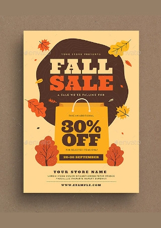 Fall Sale Event Flyer
