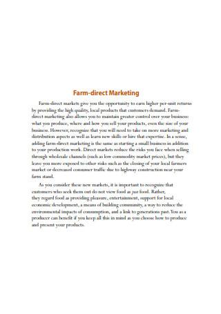 Farm Direct Marketing Sample