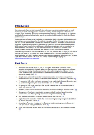 Fast Facts of Email Marketing Sample1