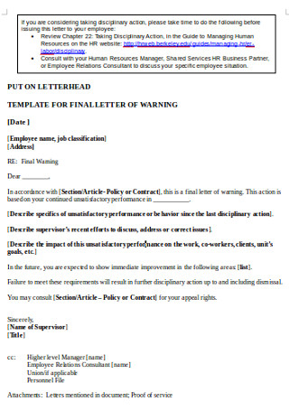 Final Warning Letter in DOC
