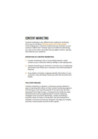 Formal Content Marketing
