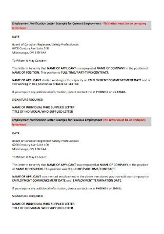 Formal Employee Cover Letter Sample