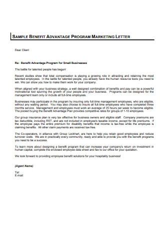 Formal Marketing Letter