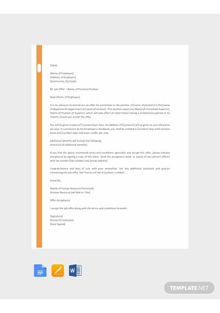 Free HR Promotion Letter Template