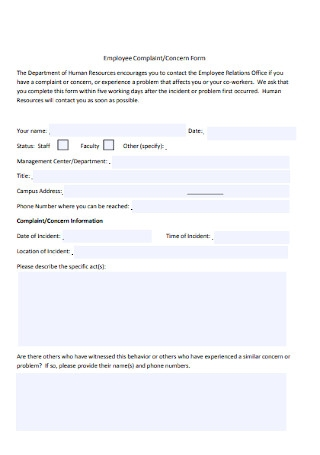HR Form for Employee