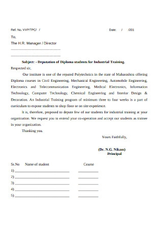 HR Manager Training Cover Letter