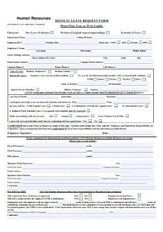 HR Medical Leave Request Form