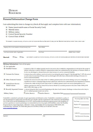 HR Personal Form