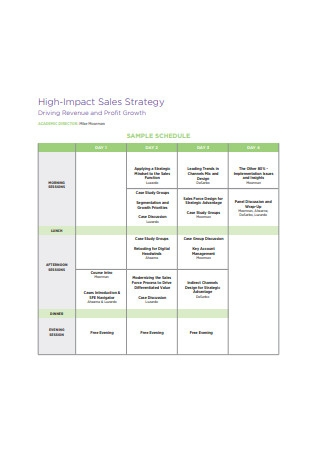 High Impact Sales Strategy