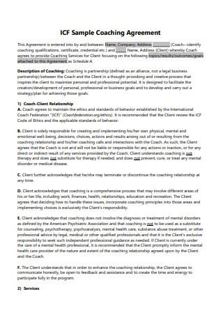 ICF Sample Coaching Agreement