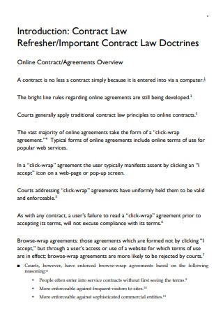Important Contract Law Doctrines