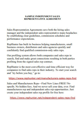 Independent Sales Representative Agreement