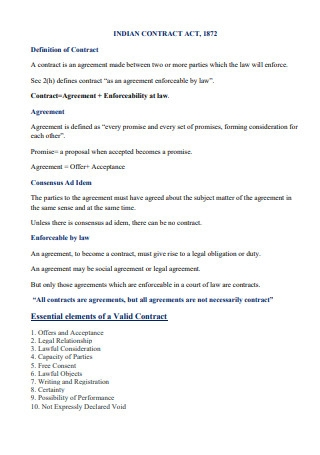Indian Contract Acts